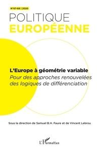 Samuel Faure - L'Europe à géométrie variable - Differenciation n°67-68 2020.