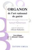 Samuel Hahnemann - Organon de l'art rationnel de guérir.