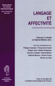 Samuel Le Quitte et Gabriel Mahéo - Langage et affectivité.