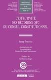 Samy Benzina - L'effectivité des décisions QPC du Conseil constitutionnel.