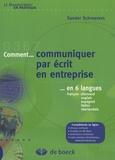 Sander Schroevers - Comment communiquer par écrit en entreprise en 6 langues - Français-allemand-anglais-espagnol-italien-néerlandais.