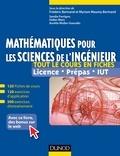 Sandie Ferrigno et Aurélie Muller-Gueudin - Mathématiques pour les sciences de l'ingénieur - 120 fiches de cours, 460 exercices résolus, exemples d'applications et bonus web.