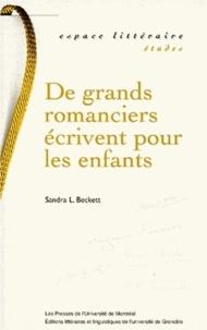 Sandra Beckett - De grands romanciers écrivent pour les enfants.