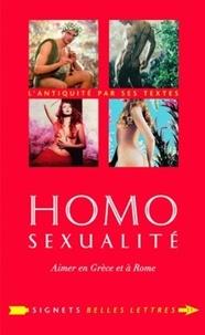 Sandra Boehringer - Homosexualité - Aimer en Grèce et à Rome.