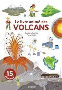 Sandra Laboucarie et Pierre Caillou - Le livre animé des volcans.