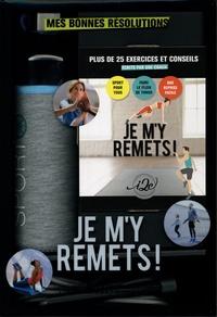 Sandra Leboucq - Coffret Je m'y remets ! Mes bonnes résolutions - Avec 1 corde à sauter, 1 gourde en verre de 50 cl et son pochon en néoprène.