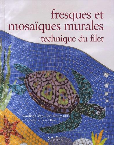 Sandrina Van Geel Neumann - Fresques et mosaïques murales - Technique du filet.