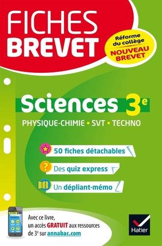 Sandrine Aussourd et Pascal Bihouée - Fiches brevet Physique-chimie SVT Technologie 3e - fiches de révision pour le nouveau brevet.