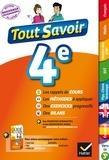 Sandrine Aussourd et Pascal Bihouée - Tout savoir 4e Nouveau programme - pour réviser dans toutes les matières.