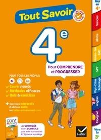 Sandrine Aussourd et Pascal Bihouée - Tout savoir 4e - Tout en un - cours, méthodes et exercices dans toutes les matières.