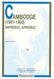 Sandrine Barbier - L'ONU ET LES OPERATIONS DE MAINTIEN DE LA PAIX : CAMBODGE (1991-1993). - Miprenuc, Apronuc.