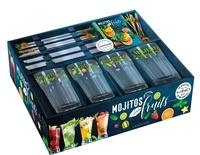 Sandrine Houdré-Grégoire et Guillaume Guerbois - Mojito fruits - Coffret avec 4 jolis verres à mojito, 4 pailles en verre, 4 agitateurs ananas en verre et 12 pics à brochettes.