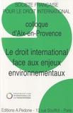 Sandrine Maljean-Dubois - Le droit international face aux enjeux environnementaux - Colloque d'Aix-en-Provence.