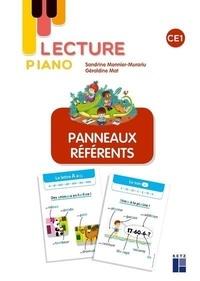 Sandrine Monnier-Murariu - Lecture piano CE1 - Panneaux référents.