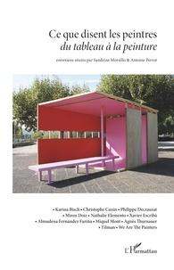 Sandrine Morsillo et Antoine Perrot - Ce que disent les peintres - Du tableau à la peinture.