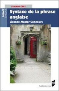 Sandrine Oriez - Syntaxe de la phrase anglaise - Licence-Master-Concours.