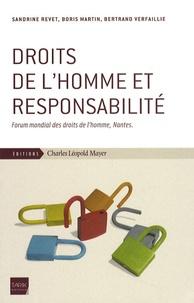 Sandrine Revet et Boris Martin - Droits de l'homme et responsabilité - Forum mondial des droits de l'homme, Nantes.