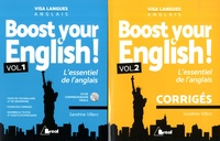 Sandrine Villers - Boost your english ! L'essentiel de l'anglais - Avec Corrigés. Pack en 2 volumes. 1 CD audio