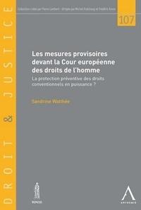 Sandrine Watthée - Les mesures provisoires devant la Cour européenne des droits de l'homme : la protection préventive des droits conventionnels en puissance ?.
