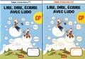 Sandrine Wendling et Michel Rius - Lire, dire, écrire avec Ludo CP - 2 volumes : Cahier d'exercices n° 1 et 2.