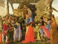 Sandro Botticelli - Calendrier de l'Avent Adoration des mages.