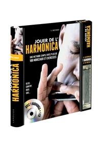 Deedr.fr Jouer de l'harmonica - Une méthode simple avec plus de 100 morceaux et exercices, avec 1 harmonica Image