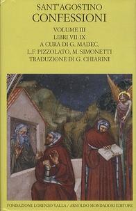 Sant'Agostino - Confessioni - Volume 3, libri VII-IX.