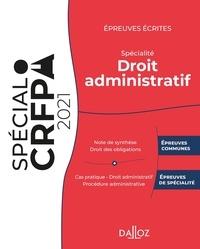 Sara Brimo - Epreuves écrites du CRFPA - Spécialité droit administratif.