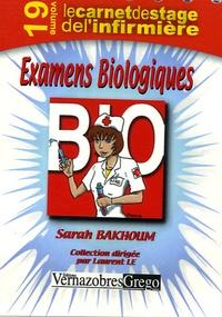 Sarah Bakhoum - Examens Biologiques.