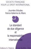 """Sarah Cassella - Le standard de """"due diligence"""" et la responsabiblité internationale - Journée d'études du Mans."""