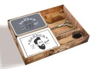 Sarah Daniel Hamizi - Gentlemen's Barber Box - Coffret avec un livre de 48 pages, un peigne, une pince à épiler, un ciseau, une brosse et une boîte en métal.