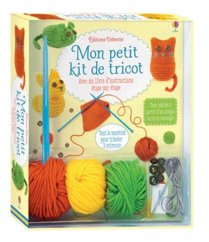 Mon Petit Kit De Tricot Avec Un Livre D Instructions Etape Par Etape Contient 3 Pelotes De Laines Des Aiguilles A Tricoter 2 Aiguilles A