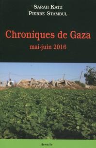 Sarah Katz et Pierre Stambul - Chroniques de Gaza - Mai-juin 2016.