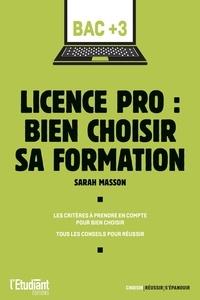 Sarah Masson - Licence pro : bien choisir sa formation.