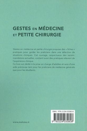 Gestes en médecine et petite chirurgie
