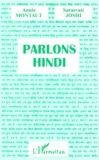 Sarasvati Joshi et Annie Montaut - Parlons hindi.