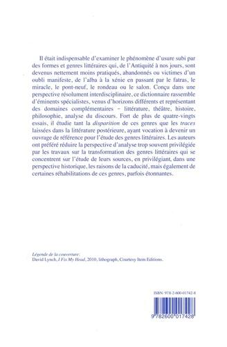 Dictionnaire raisonné de la caducité des genres littéraires