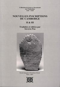 Saveros Pou - Nouvelles inscriptions du Cambodge - Tome 2 et 3.