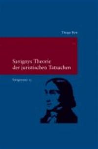 Savignyana / Savignys Theorie der juristischen Tatsachen.