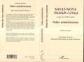 Sayat-Nova - Odes arméniennes - Edition bilingue français-arménien.