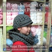Sayjai Thawornsupacharoen - Puff Stitch Hat and Cowl Crochet Pattern.