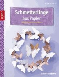 Schmetterlinge aus Papier - Dekorativ in Szene gesetzt.