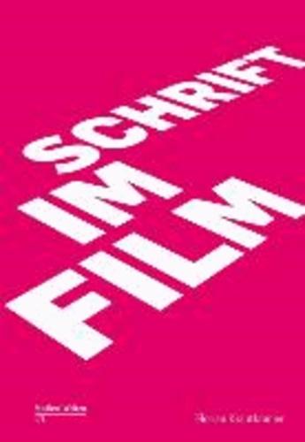 Schrift im Film.