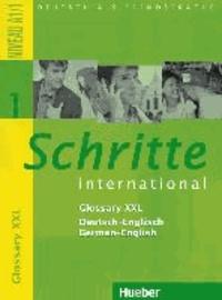 Accentsonline.fr Schritte international 1. Glossar XXL Deutsch-Englisch - Deutsch als Fremdsprache - Niveau A1/1 Image