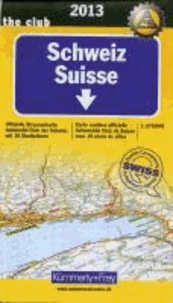 Schweiz ACS 1 : 275 000. Ausgabe 2013 - Offizielle Strassenkarte Automobil Club der Schweiz mit 10 Stadtplänen.