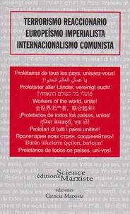 Science Marxiste Editions - Terrorismo reaccionario, europeismo imperialista, internacionalismo comunista.