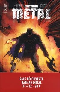 Scott Snyder et James Tynion IV - Batman métal : Le Multivers Noir  : Pack en 2 volumes : Tome 1 : La forge ; Tome 2 : Les chevaliers noirs.