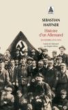 Sebastian Haffner - Histoire d'un Allemand - Souvenirs 1914-1933.