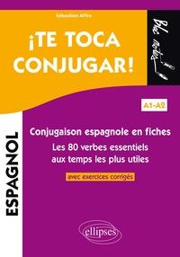 Accentsonline.fr ¡ Te toca conjugar! - Conjugaison espagnole en fiches avec exercices corrigés. Les 80 verbes essentiels aux temps les plus utiles A1-A2 Image