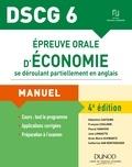 Sébastien Castaing et François Coulomb - Epreuve orale d'économie se déroulant partiellement en anglais DSCG 6 - Manuel.